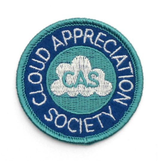 'Cloud Appreciation Society' embroidered patch