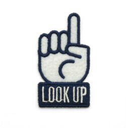 'Look Up' embroidered patch