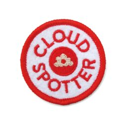 'Cloudspotter' sew-on embroidered patch